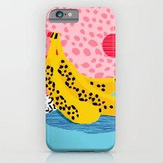 What It Is - memphis throwback banana fruit retro minimal pattern neon bright 1980s 80s style art Slim Case iPhone 6s