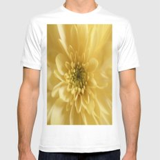 YELLOW Mens Fitted Tee SMALL White