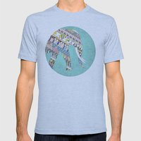 Mosaic Elephant Mens Fitted Tee Athletic Blue SMALL