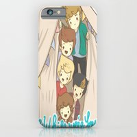 iPhone & iPod Case featuring One Direction Live Like We're Young Cartoon 2 by xjen94