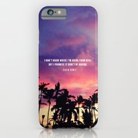iPhone & iPod Case featuring 1980's sunset and quote by Goldfish Kiss