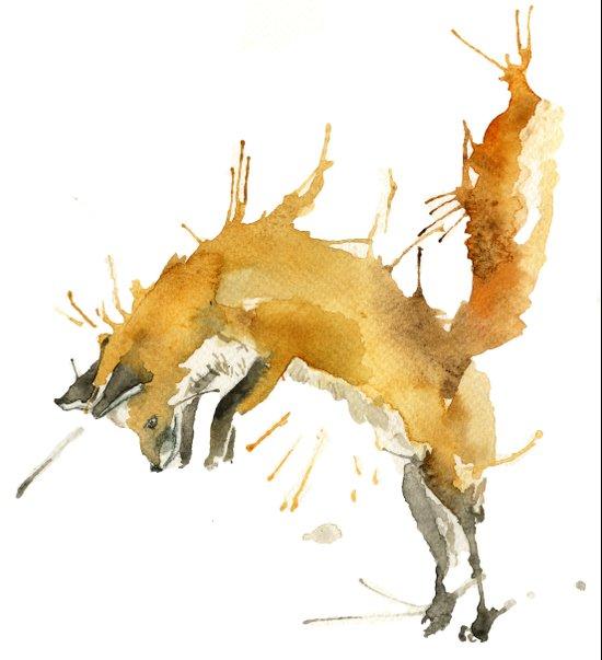Jump Foxy Art Print