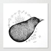 Lump bird Canvas Print