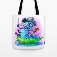 pirate worm Tote Bag