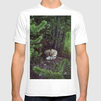 Sleeping Fox Mens Fitted Tee White SMALL