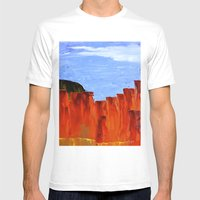 High Desert Canyons Mens Fitted Tee White SMALL