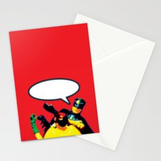 Robin and Bat Man in Action Stationery Cards