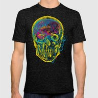 Anatomy Skull Mens Fitted Tee Tri-Black SMALL