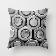 STUDS (b&w) Throw Pillow