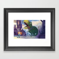 Bring Your Pet To School… Framed Art Print