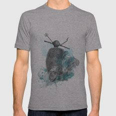 VESPA from the retro project Mens Fitted Tee Athletic Grey SMALL
