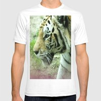 Stalk Mens Fitted Tee White SMALL
