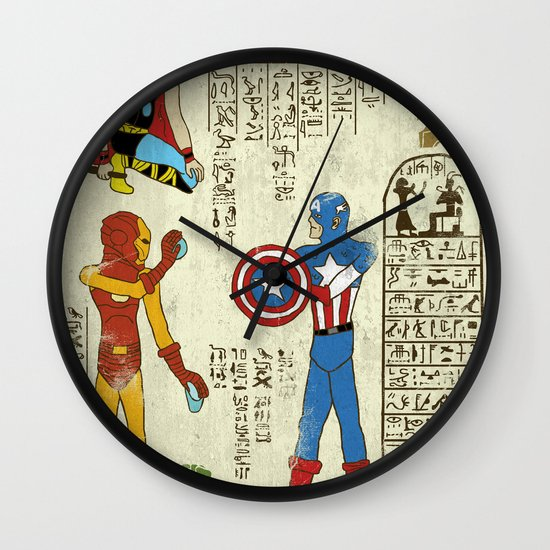 hero-glyphics: Avengers Wall Clock