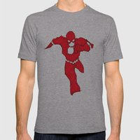Bang! Gone. Mens Fitted Tee Athletic Grey SMALL