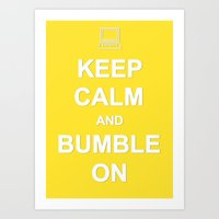 Bumble On Art Print