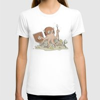 The Great Sea Warrior Womens Fitted Tee White SMALL