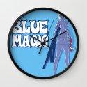 Guns N' Honey : Blue Magic Wall Clock