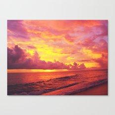 Setting Canvas Print