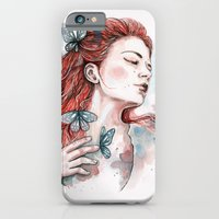 Girl With A Butterfly, W… iPhone 6 Slim Case