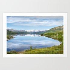 Lake Øvre Sjodalsvatnet Art Print