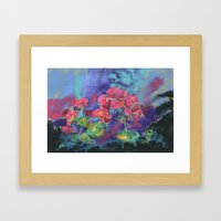 Geraniums, Geranium painting, pink geraniums, flower painting Framed Art Print