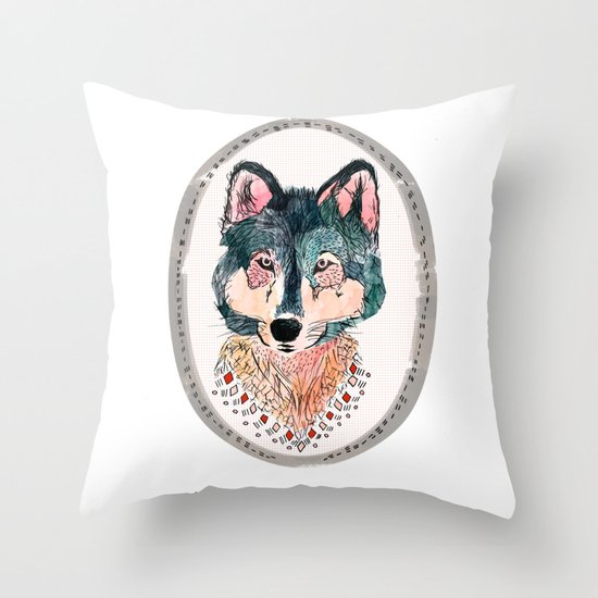 how lucky to be so unusually free Throw Pillow