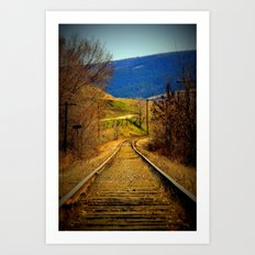 railway edited Art Print
