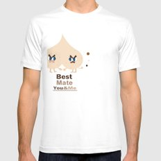 Best mate -you and me White Mens Fitted Tee SMALL
