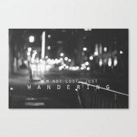 Just Wandering. Canvas Print