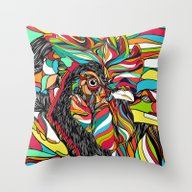 Throw Pillow featuring Tropical Cock (Feat. Bry… by Danny Ivan
