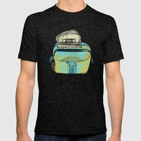 toasted tapes Mens Fitted Tee Tri-Black SMALL