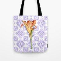 Daylily Lace Tote Bag