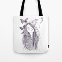 Wolf To The Moon Tote Bag