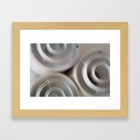 vintage blurry luminaries Framed Art Print