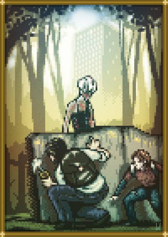 Pixel Art series 12 : In silence Canvas Print