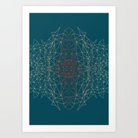 GeoGradientTurquoise Art Print