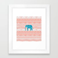 Elephant Blues Framed Art Print