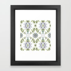 Nature's Damask Framed Art Print