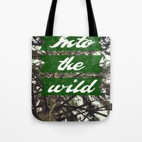 Tote Bag featuring Into the wild by AA Morgenstern