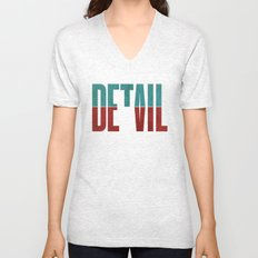 Devil in the detail. Unisex V-Neck