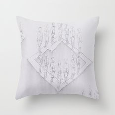 Whiteout II Throw Pillow