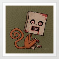 Psycho Sack Monkey Art Print
