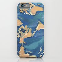 iPhone & iPod Case featuring World Map by Angelina Bowen