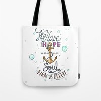 Hebrews 6:19 Tote Bag