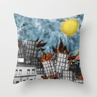 Hell Fire & McDonalds Throw Pillow
