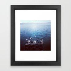 Community gathering Framed Art Print