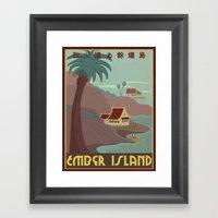 Ember Island Travel Poster Framed Art Print