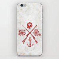 Skull Flower Rifle Bicyc… iPhone & iPod Skin