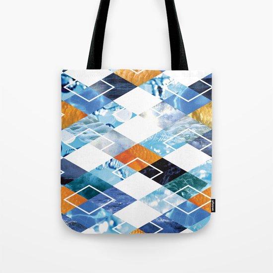 Argyle Aquarium Tote Bag