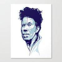 Tom Waits Portrait Canvas Print